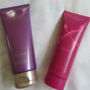 Lancome Paris and Vera Wang Makeup - 2 Fragrance Body Lotions Miracle and  Lovestruck